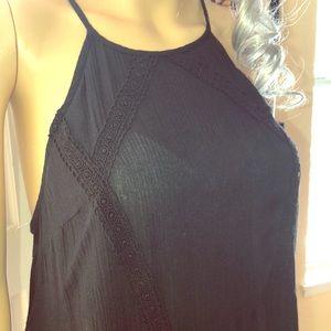 Black tank dress coverup